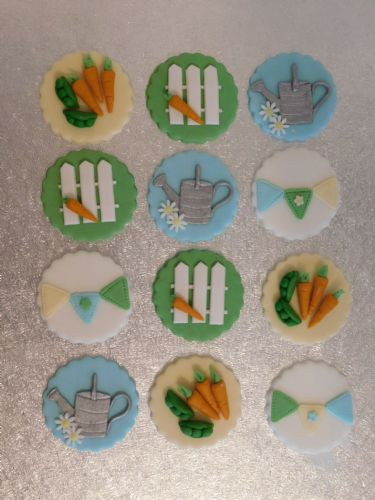 12 Peter Rabbit Style Cupcake Toppers